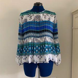 Diane von Furstenberg silk lined blouse size 4